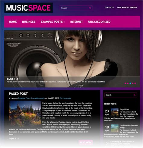 themes wordpress music 10 best design freebies of january 2013 web teacherweb