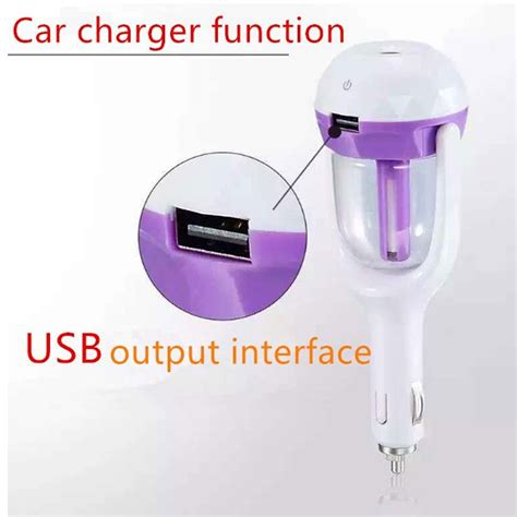 Pengharum Parfum Mobil Car Vehicle Usb Aromatherapy Humidifier usb car charger with humidifier air aromatherapy purifier famstore