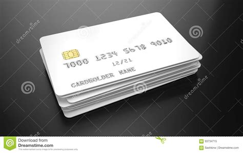 black credit card template stack of blank white credit cards template on black