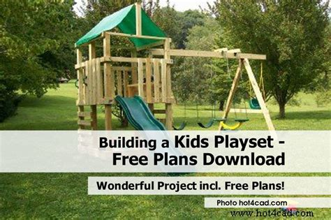 build a house free building a playset free plans