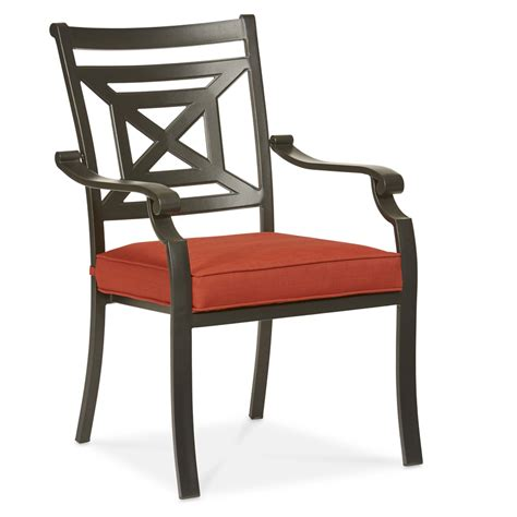 Patio Dining Chairs With Cushions Shop Allen Roth Kingsmead 4 Count Black Steel Stackable Patio Dining Chairs With Cushions
