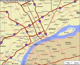 Map Of Detroit Michigan by Detroit Michigan Map
