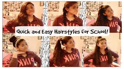 easy hairstyles for school when running late quick easy heatless hairstyles for school and running