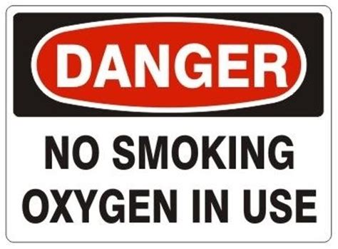 no smoking sign use no smoking oxygen in use danger sign