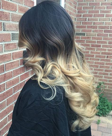 black and blonde ombre images ombre hair blonde to black www imgkid com the image