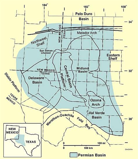 permian basin texas map permian basin america