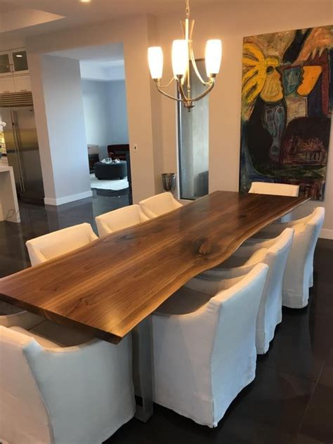 slab dining room table 25 best ideas about live edge table on wood