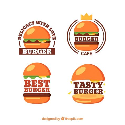 how to create an elegant red burger logo with aaa logo shiny burger logo collection vector free download