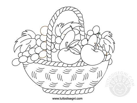 disegni da colorare fiori e frutta cesto con frutta da colorare tuttodisegni