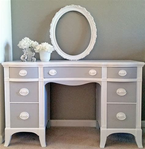 Seagull Gray And Snow White Desk General Finishes Design White Painted Desk