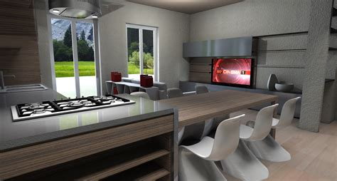 software architettura interni progetto arredo 3d modellazione 3d e rendering interni