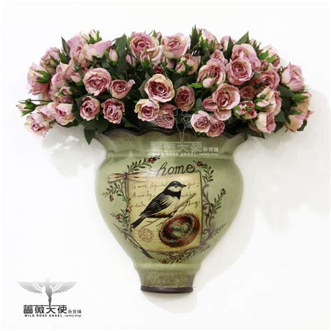 Flower Overall Inner One Set fashion painting ceramic high temperature wall mounted flower receptacle flower floral