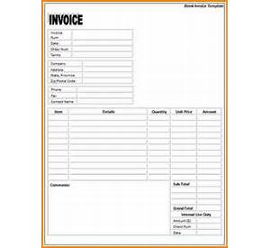 Blank Printable Invoice Forms Sample Resume Executive - Blank printable invoice template