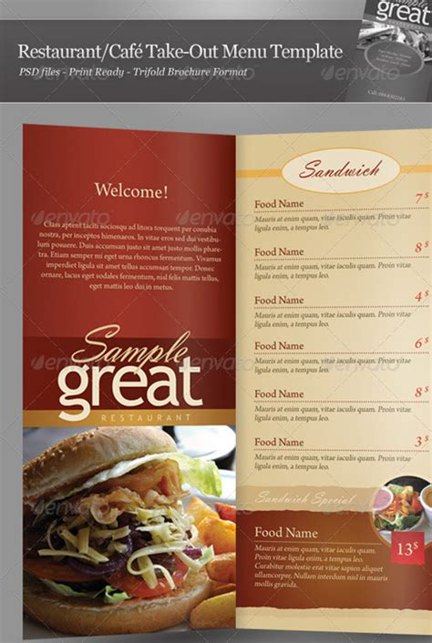 restaurant take out menu templates 25 high quality restaurant menu design templates web