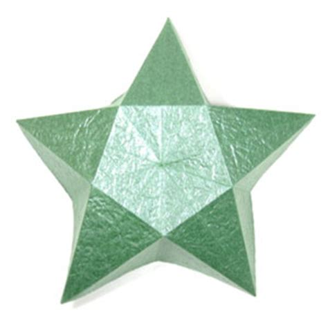 how to make a five pointed lovely origami star box: page 3