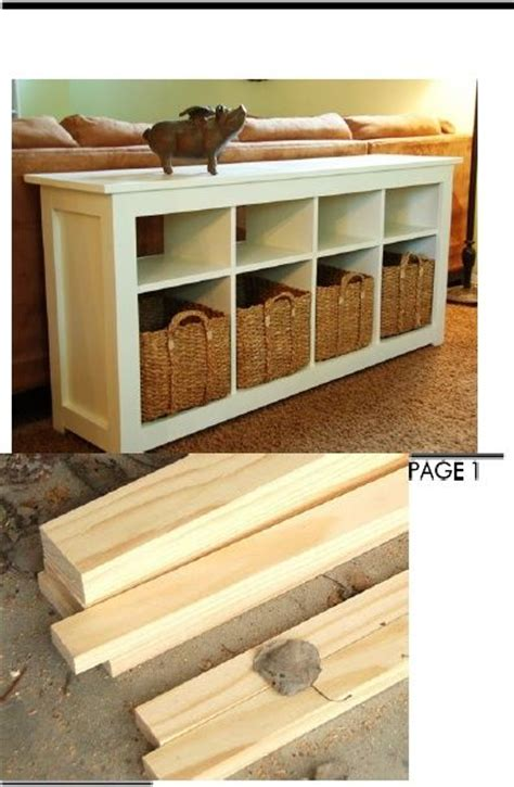 how to build a sofa table sofa table plans cool organizing stuff
