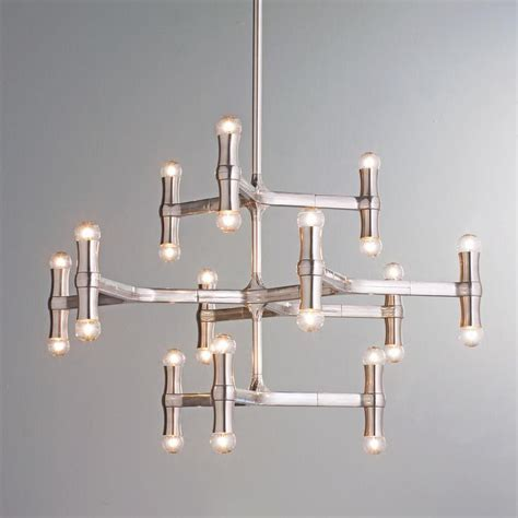 Contemporary Chandeliers Modern Bamboo Inspired Chandelier Lighting