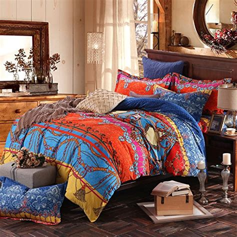 fadfay brand colorful exotic bohemian duvet covers queen