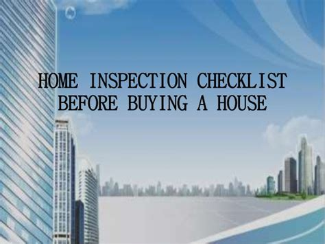 before buying a house checklist home inspection checklist before buying a house