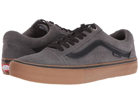 Vans Oldskool Grey Gum vans skool pro grey black gum zappos free shipping both ways