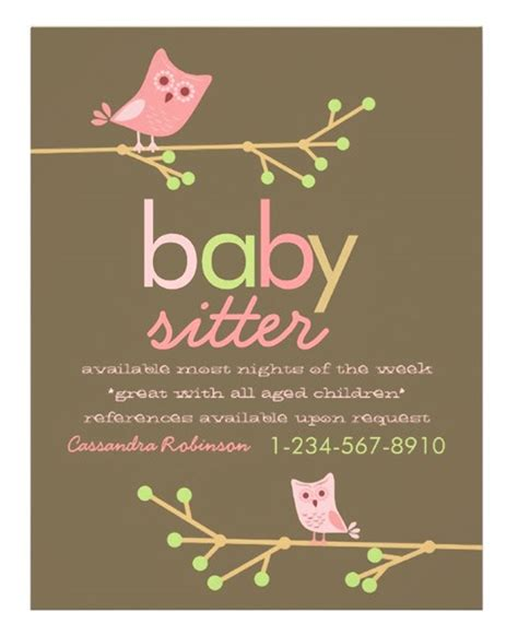 free babysitting flyer templates 15 cool babysitting flyers printaholic