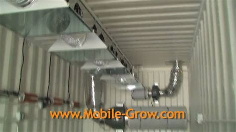 shipping container grow room mobilegrow container 1 mov