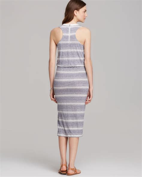 Thin Stripe Casual Top 23399 lyst dolce vita dress calico linen thin stripe in blue