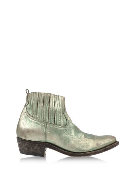 golden goose boots golden goose deluxe brand ankle boots in silver platinum