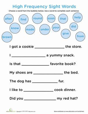 combining writing  sight word practice  complete