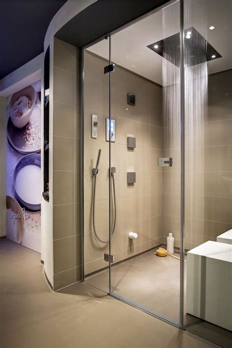cleopatras steam shower  hansgrohe rainbrain shower