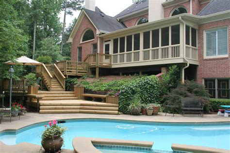 deck pergola and porch designs for pools st louis decks