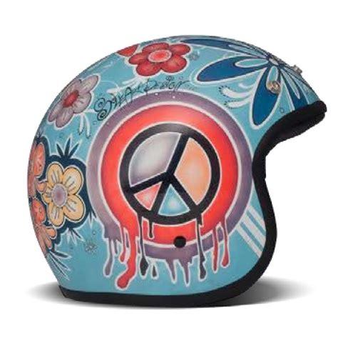 Motorradhelme 50 Jahre by Dmd Vintage Quot Flower Power Quot Vintage Jethelm