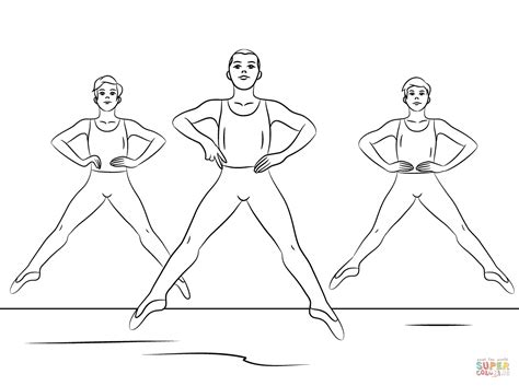 Boy Dancer Coloring Page | dancing boy free colouring pages