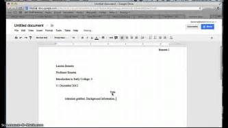 docs mla template how to set up a document in mla format in docs