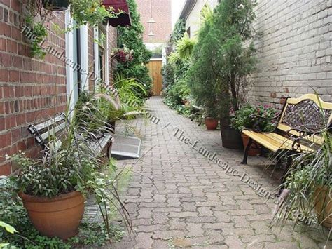 narrow backyard design ideas long narrow courtyards by the landscape design site com