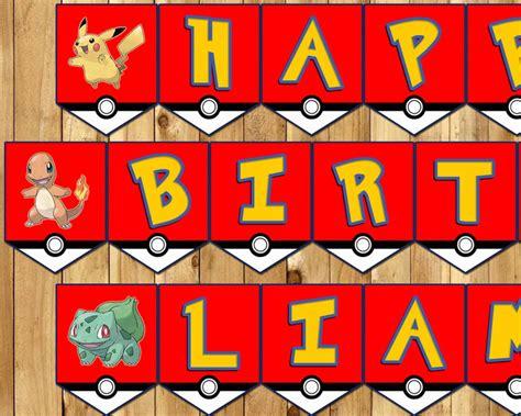 printable pokemon happy birthday banner pokemon birthday banner make images pokemon images