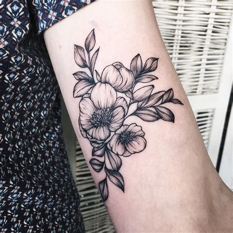 black and white flower tattoo designs 24 black and white designs ideas design trends