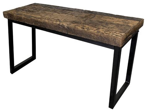 wood and iron sofa table coast to coast furniture railroad wood and iron sofa