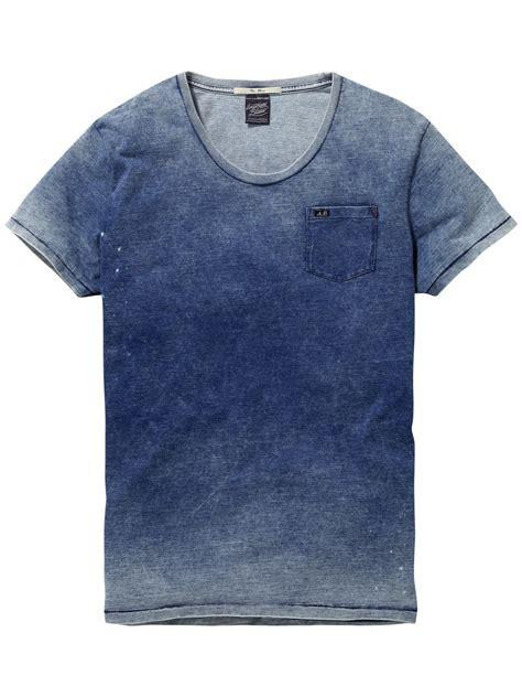 T Shirt Indigo indigo t shirt t shirt s s mannenkleding bij scotch