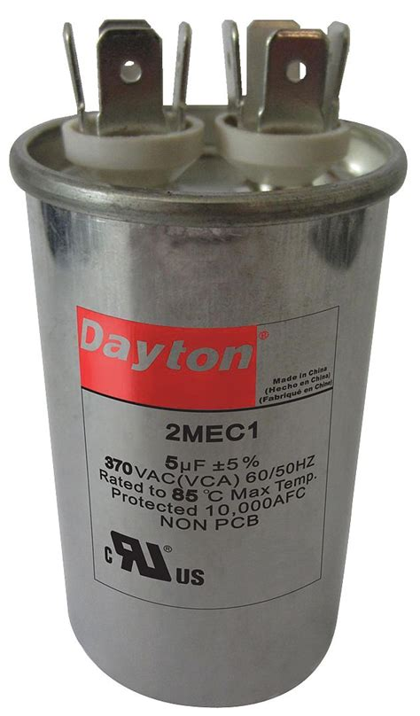 capacitor ratings mfd dayton motor run capacitor 2meg8