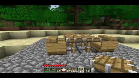 how to a table in minecraft chairs and table with pistons minecraft