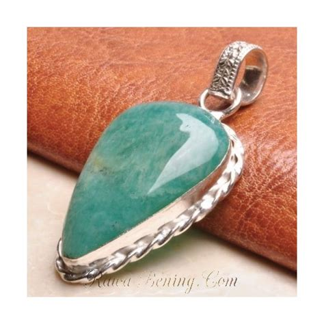 Gelang Wanita On Sale Batu Giok Hijau Xiuyan Serpentine 60mm Sxjb A liontin batu amazonite bentuk pear shape origin usa