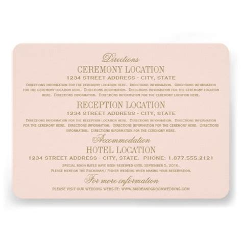 wedding website enclosure card template 25 best ideas about accommodations card on