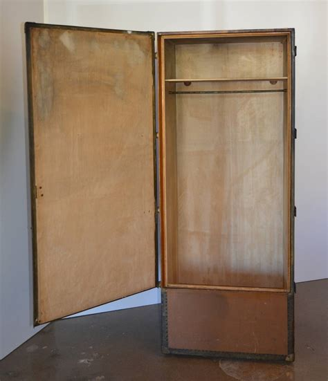 6 Foot Armoire Six Foot Wardrobe Steamer Trunk Circa 1915 At 1stdibs