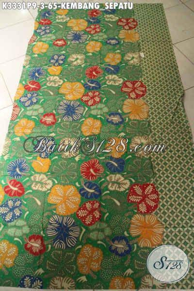 Kain Batik Kembang Sepatu kain batik warna hijau motif kembang sepatu bahan busana