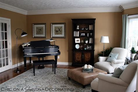 Ballard Designs Catherine Rug chic on a shoestring decorating grand piano living room