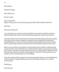 Business Letter Sle Meeting Request Business Letter Sle Of Request 28 Images Sle Business