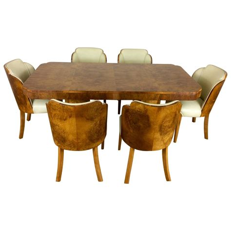 Art Deco Cloud Design Dining Table And Chairs In A Maple Dining Table And Chairs