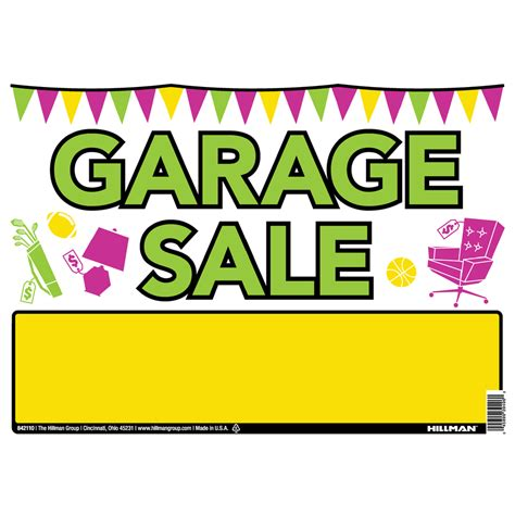 shop hillman sign center 10 in x 14 in garage sale sign at