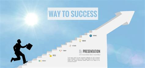 success powerpoint templates way to success presentation template sharetemplates